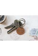 Traveling Penny Adventure Awaits Keychain