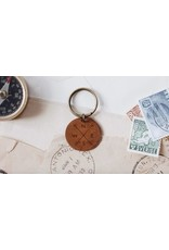 Traveling Penny Compass Keychain