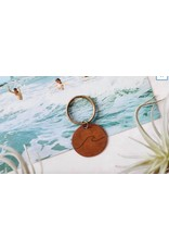 Traveling Penny Wave Keychain
