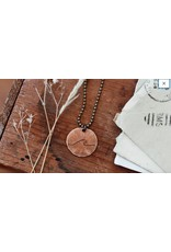 """Traveling Penny Wave Penny Necklace 24"""""""