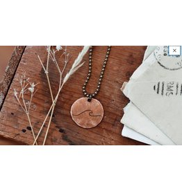 Traveling Penny Wave Penny Necklace 24""