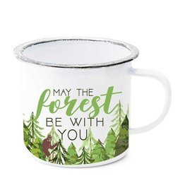 May the Forest Be with You Enamel Mug