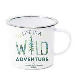 Life is a Wild Adventure Enamel Mug
