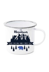 Mountains are Calling Enamel Mug