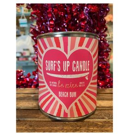 Surfs Up Candle Beach Bum Pint - Be Mine - Valentines Day
