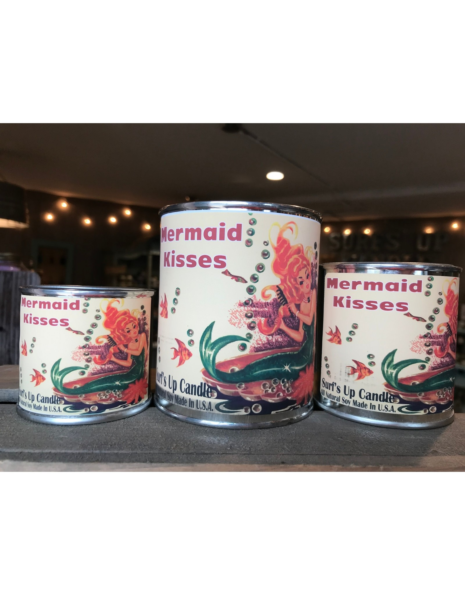 Surfs Up Candle Mermaid Kisses Paint Can Candle - 1/4 Pint