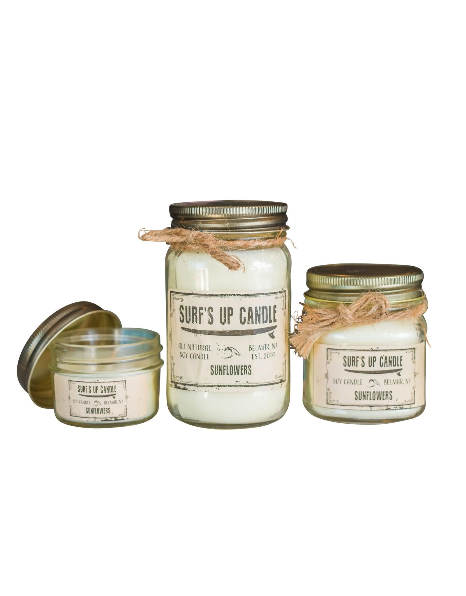 Surfs Up Candle Sunflower Mason Jar Candle - 4 oz
