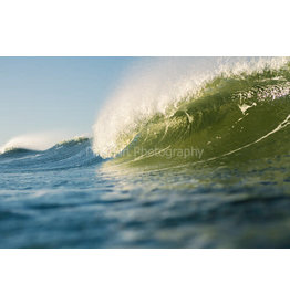 Pink Fin Photography Green Wave Print