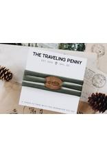 Traveling Penny Appalachian Trail Cloth Wrap Bracelet