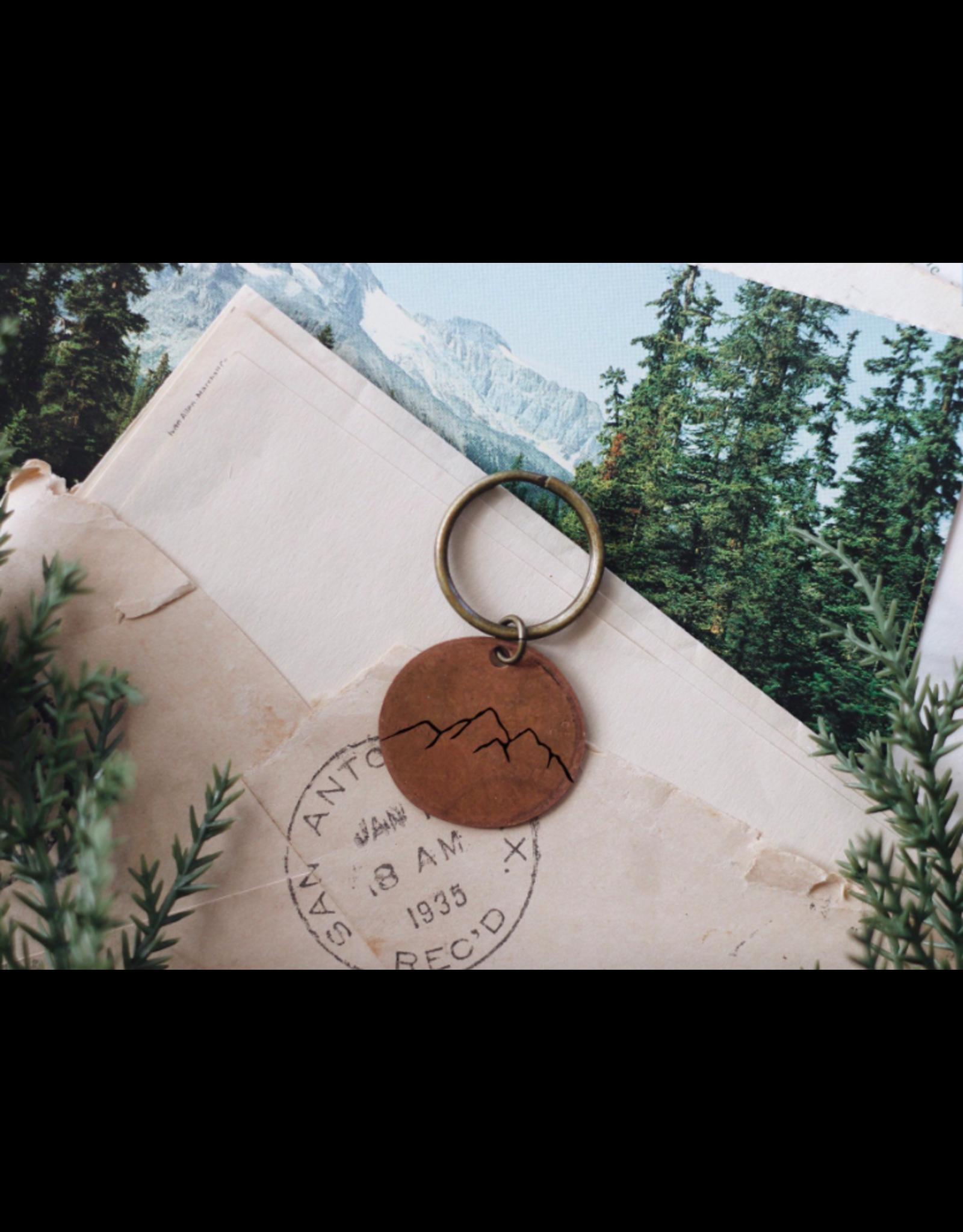 Traveling Penny Mountain Range Keychain