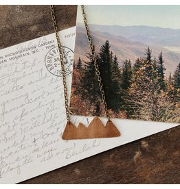 """Traveling Penny Copper Mountain Range 24"""" Necklace"""