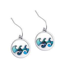 Bamboo Trading Company Cresting Wave Earrings