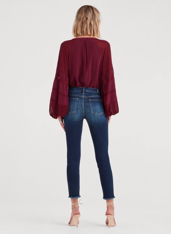 7 For All Mankind b(air) Authentic Denim Roxanne Ankle