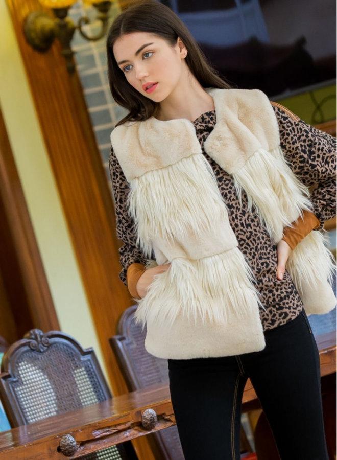 Long Fur Faux Fur Vest