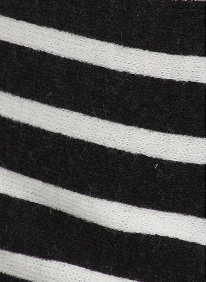 Blazer with Printed Stripe Motif