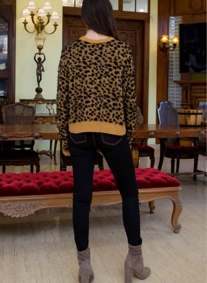 Crewneck Cheetah Sweater