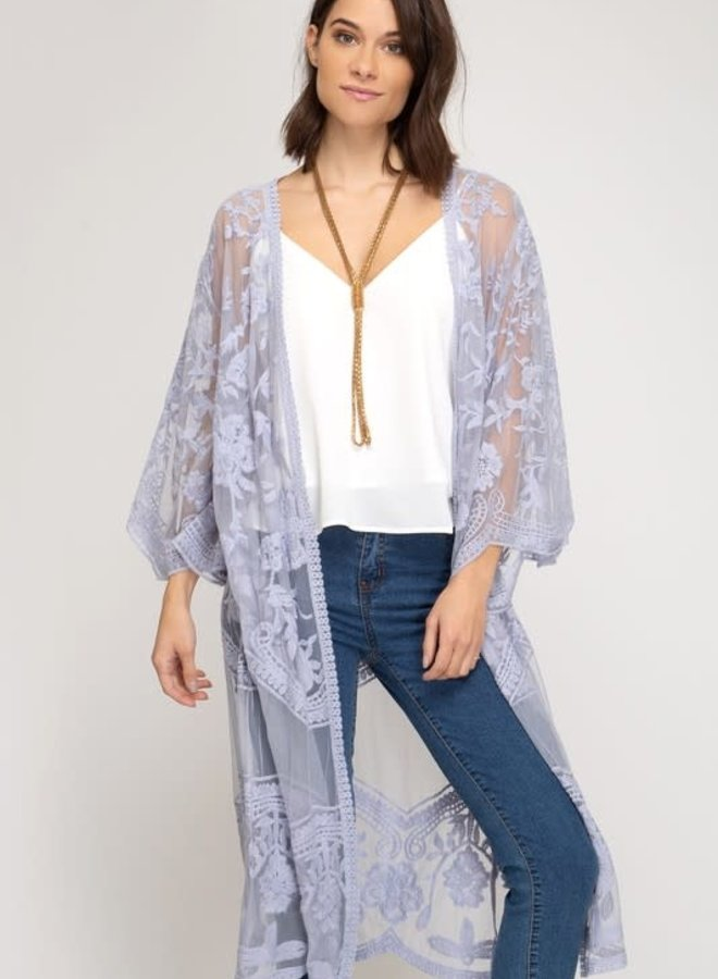 Livvy Lace Boho Full Length Cardigan