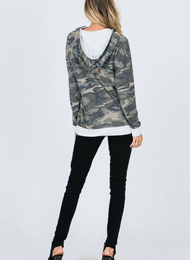 Penelope Camo Hooded Sweatshirt