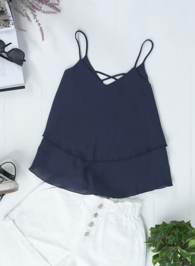 Darby Crossed Layer Cami