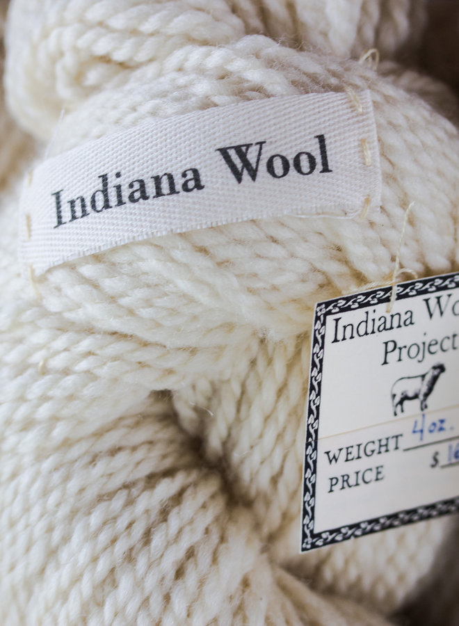 Indiana Woolen Project Natural Color 2 ply Skein