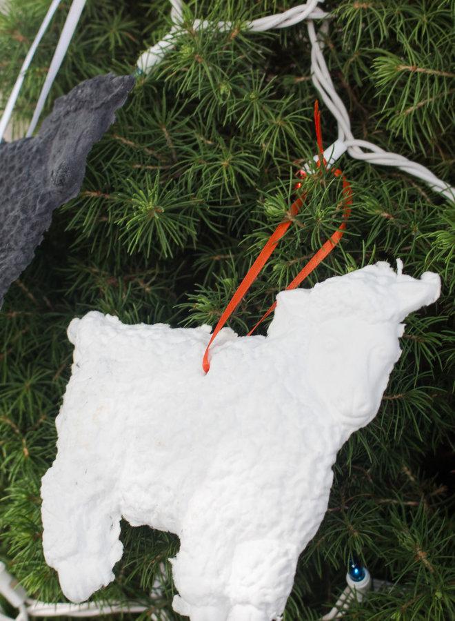 The Basket Lady Cotten Linter Sheep Ornament