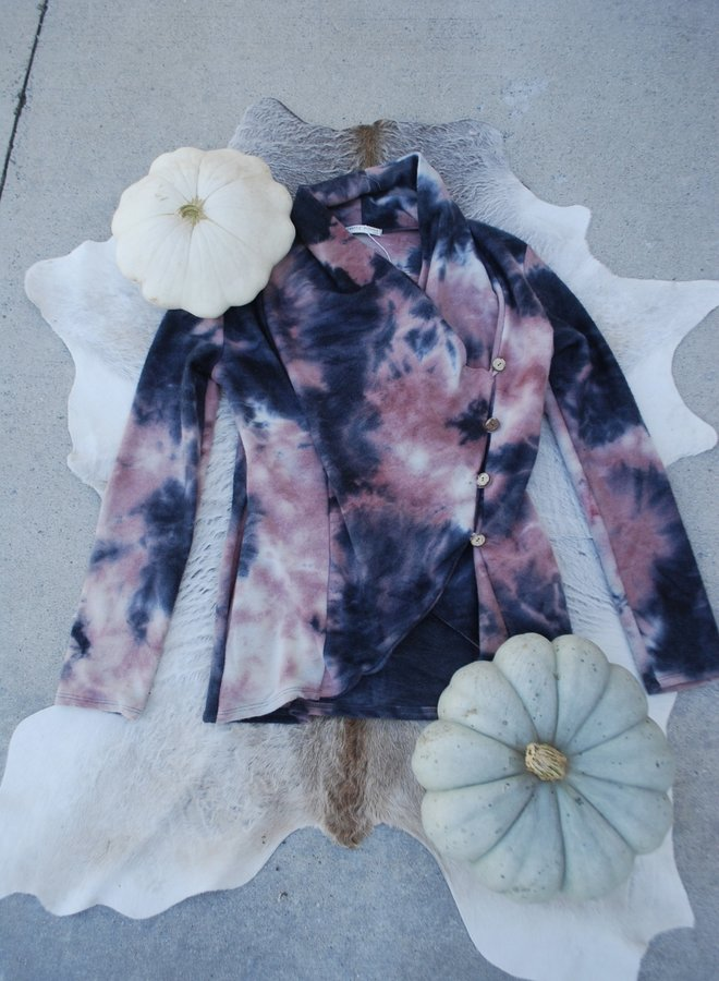 Tie-Dye Button Sweater