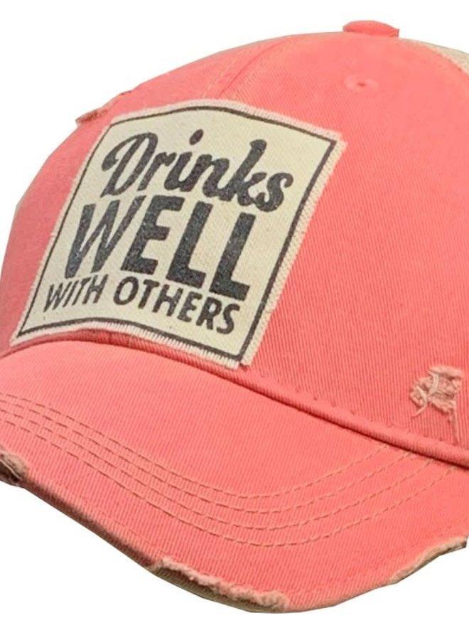 Back Road Distressed Trucker Hat