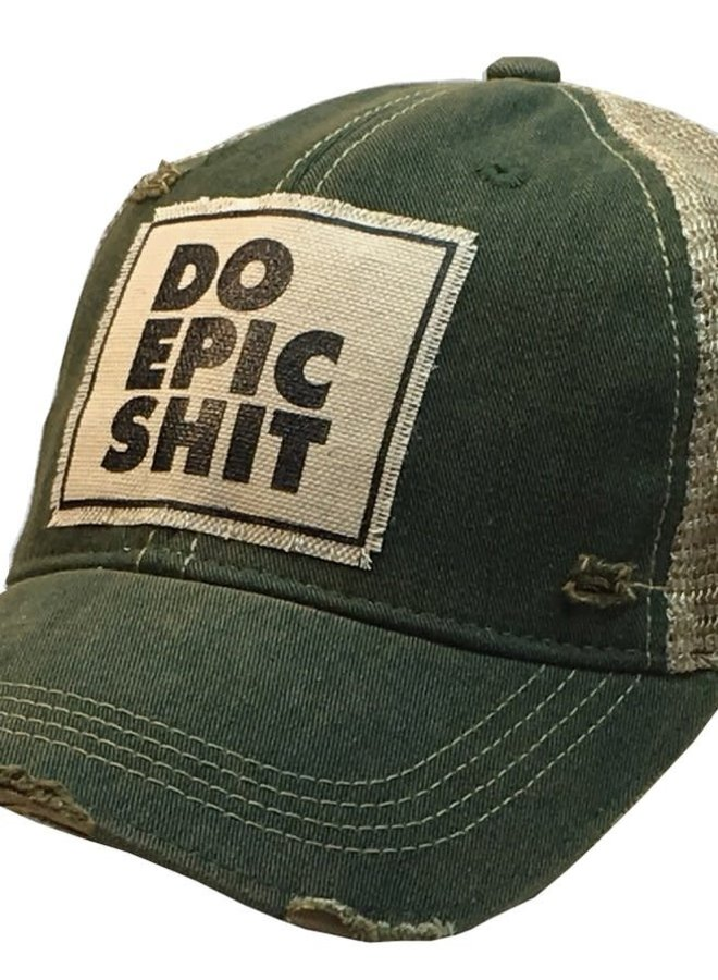 The Back Road Vintage Distressed Trucker Hat