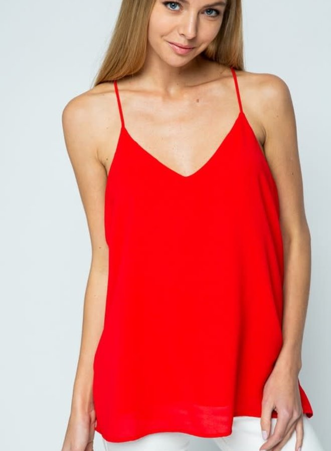 Saddie June V-Neck Racer Back Cami