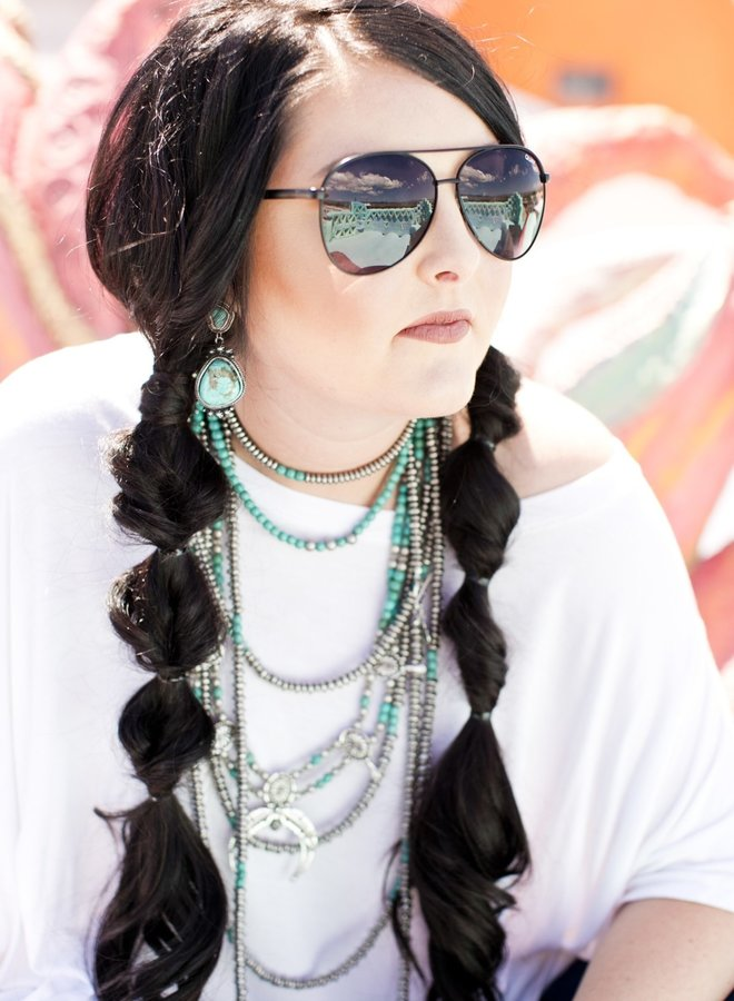 The Lexington Stud and Dangle Turquoise Earrings