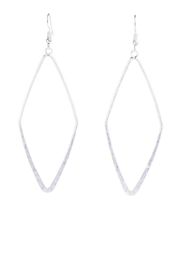 The Lufkin Matte Diamond Dangle Hoops