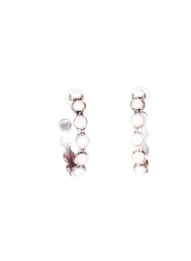 The Sioux City Stone Studded Hoops