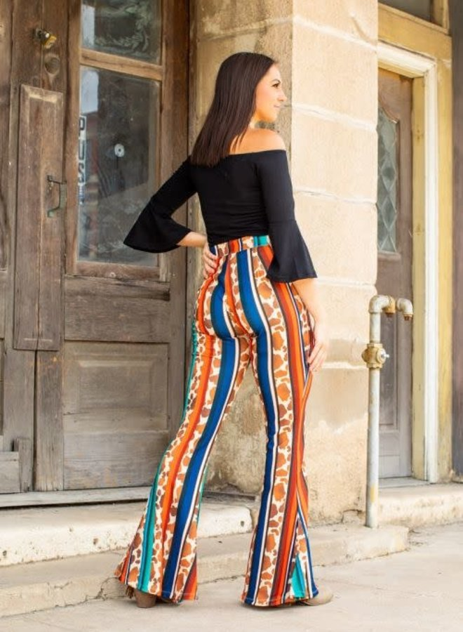 The Cold Day in July Button Front Flares