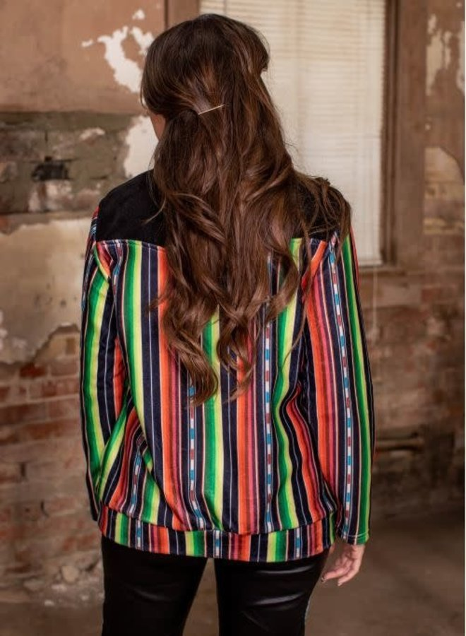 The Red Dirt Road Color Block Serape Pull Over
