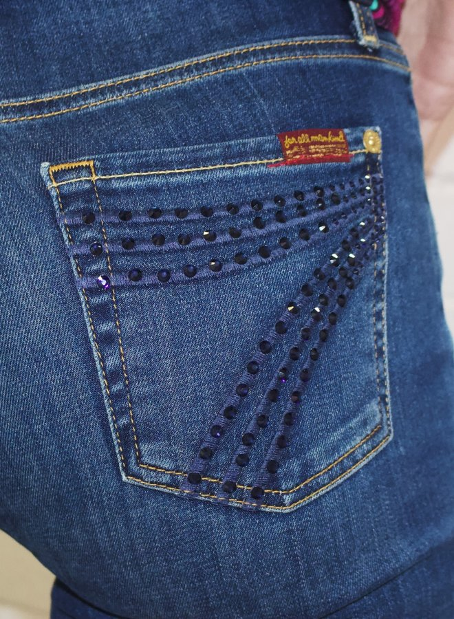 Limited Edition 7 for all Mankind b(air) Dojo with Crystal Logo Back Pocket