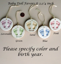 Baby Doll Ornaments / Favors, 2,1/4