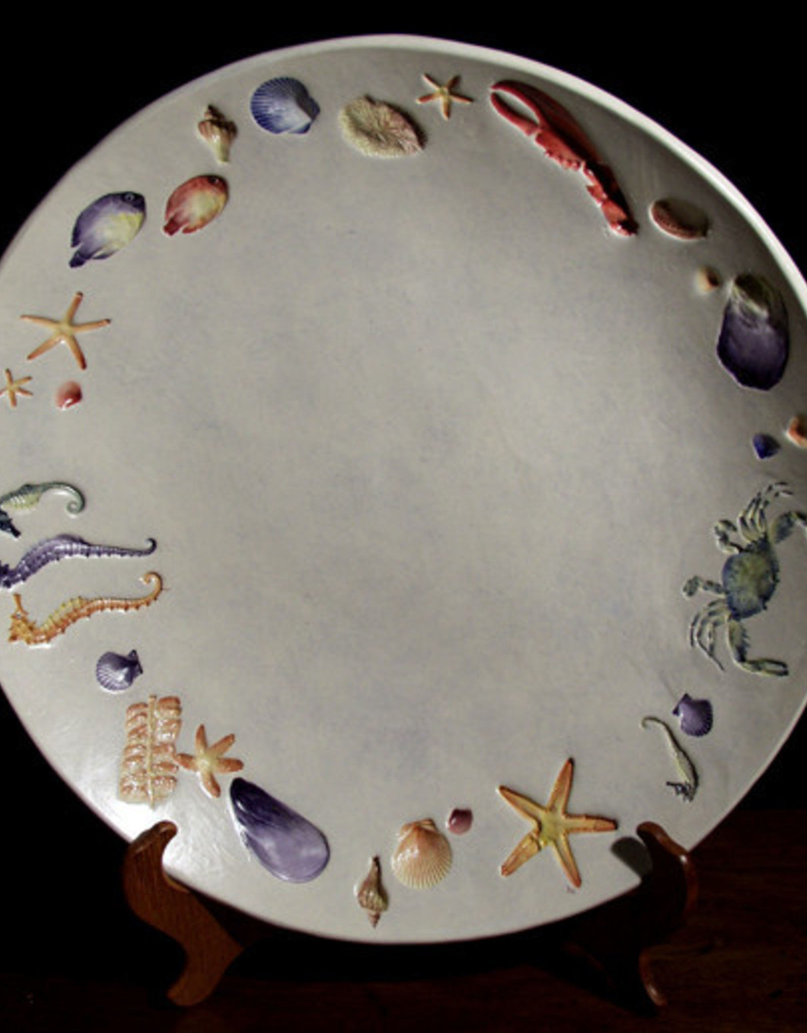 "Bowl 15"" Sea Creatures Multicolored"