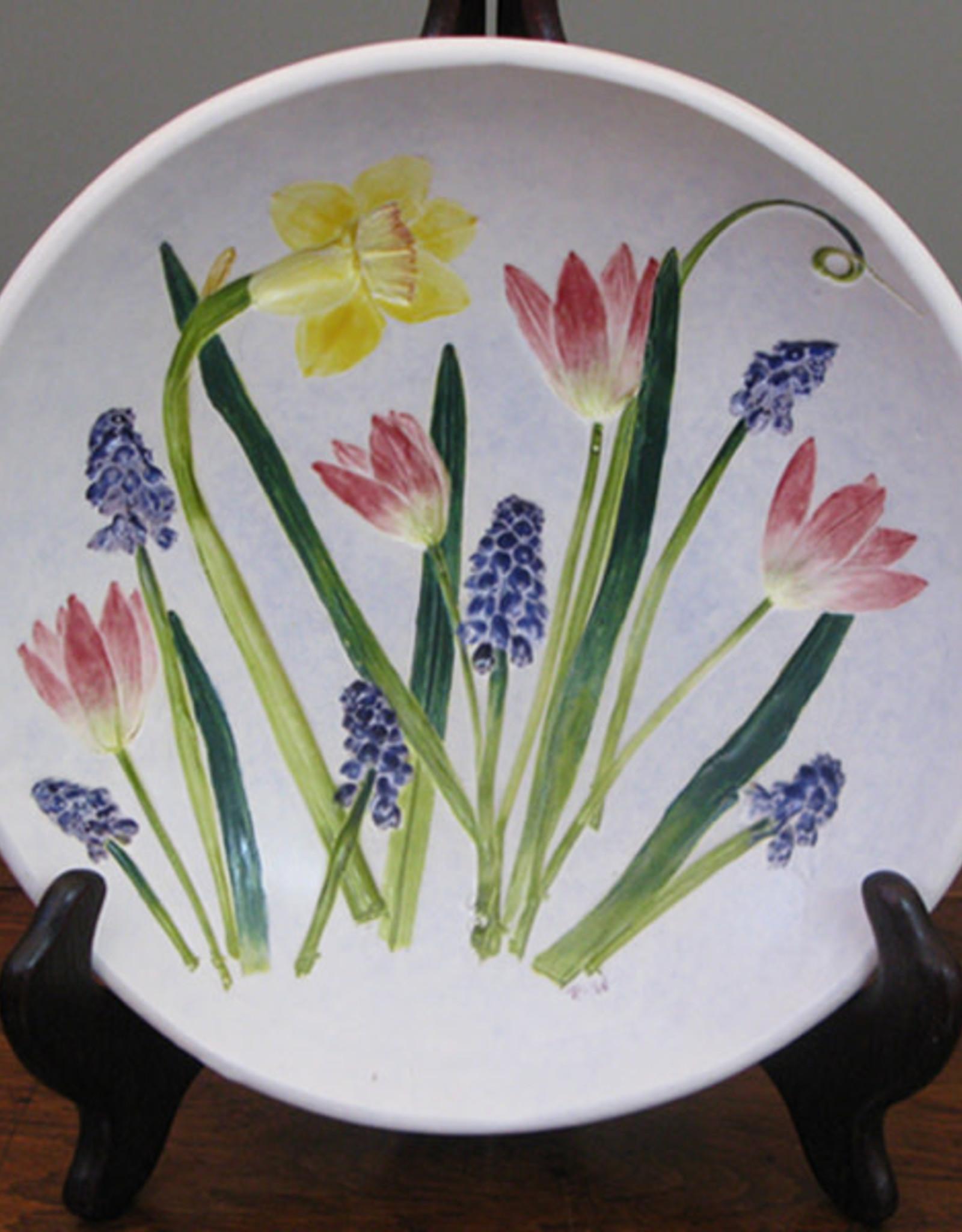 "Bowl 8"" Daffodil Grape Hyacinth Tulip"