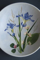 "Bowl 8"" Iris Mock Orange Clover"