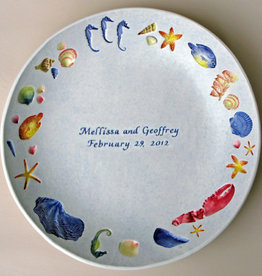 "Personalized Bowl 12"" Sea Creatures Multicolored"