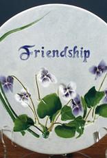 """Message Trivet 6"""" Round Friendship"""