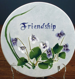 "Message Trivet 6"" Round Friendship"