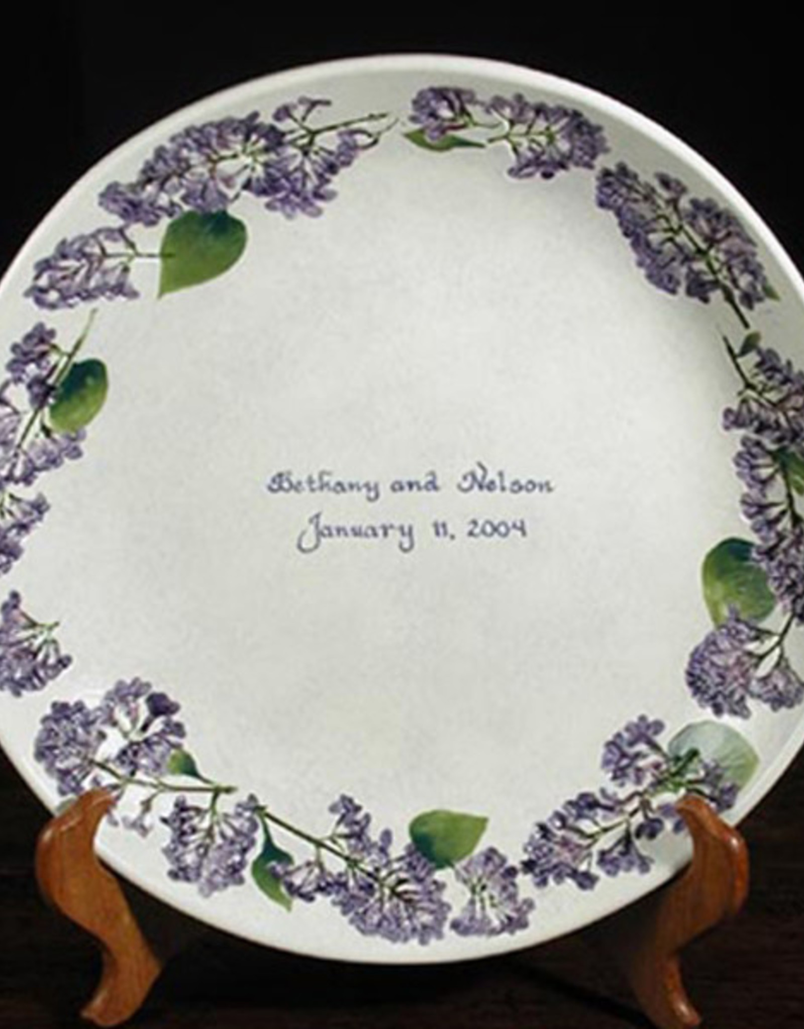 "Personalized Bowl 12"" Lilac"