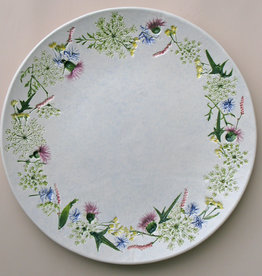 "Plate 13"" Rounded Queen Anne's Lace Thistle"