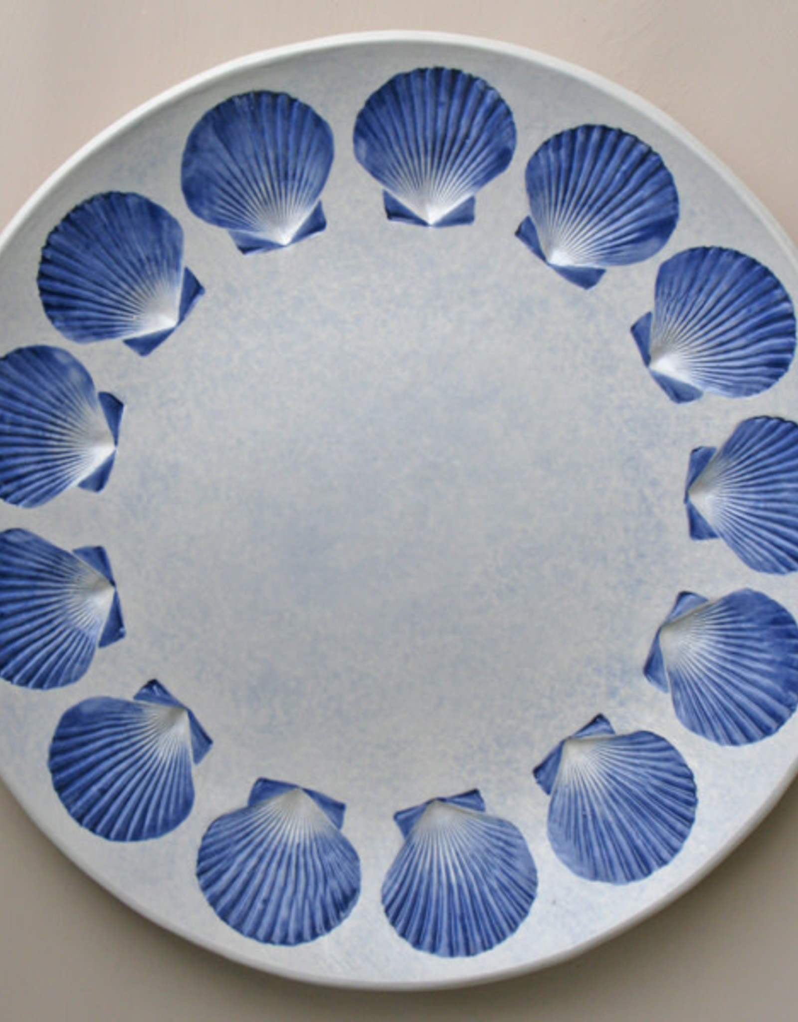 "Plate 13"" Rounded Scallop"