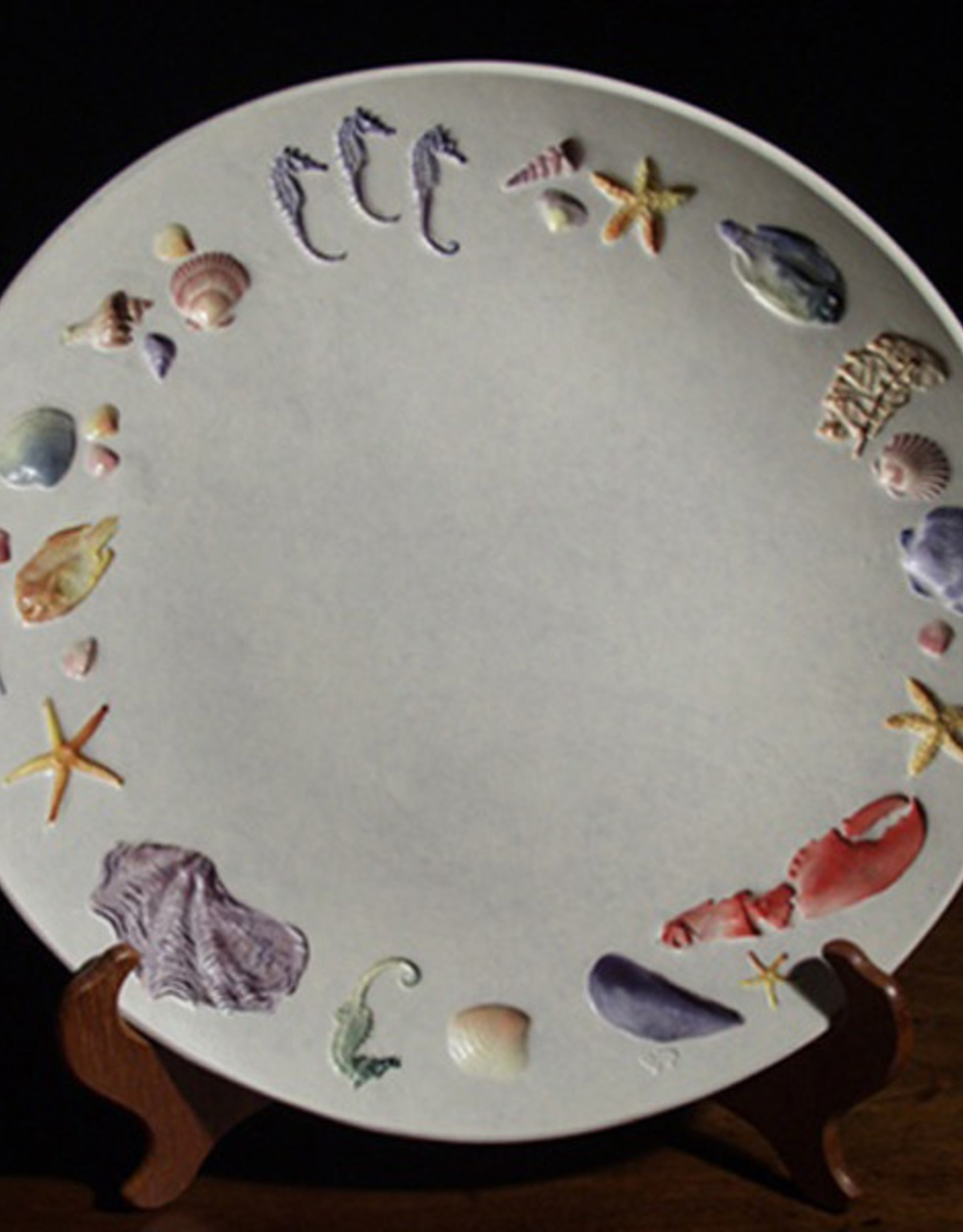 """Plate 13"""" Rounded Sea Creatures Multicolored"""