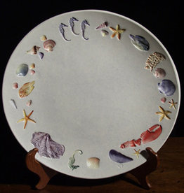 "Plate 13"" Rounded Sea Creatures Multicolored"