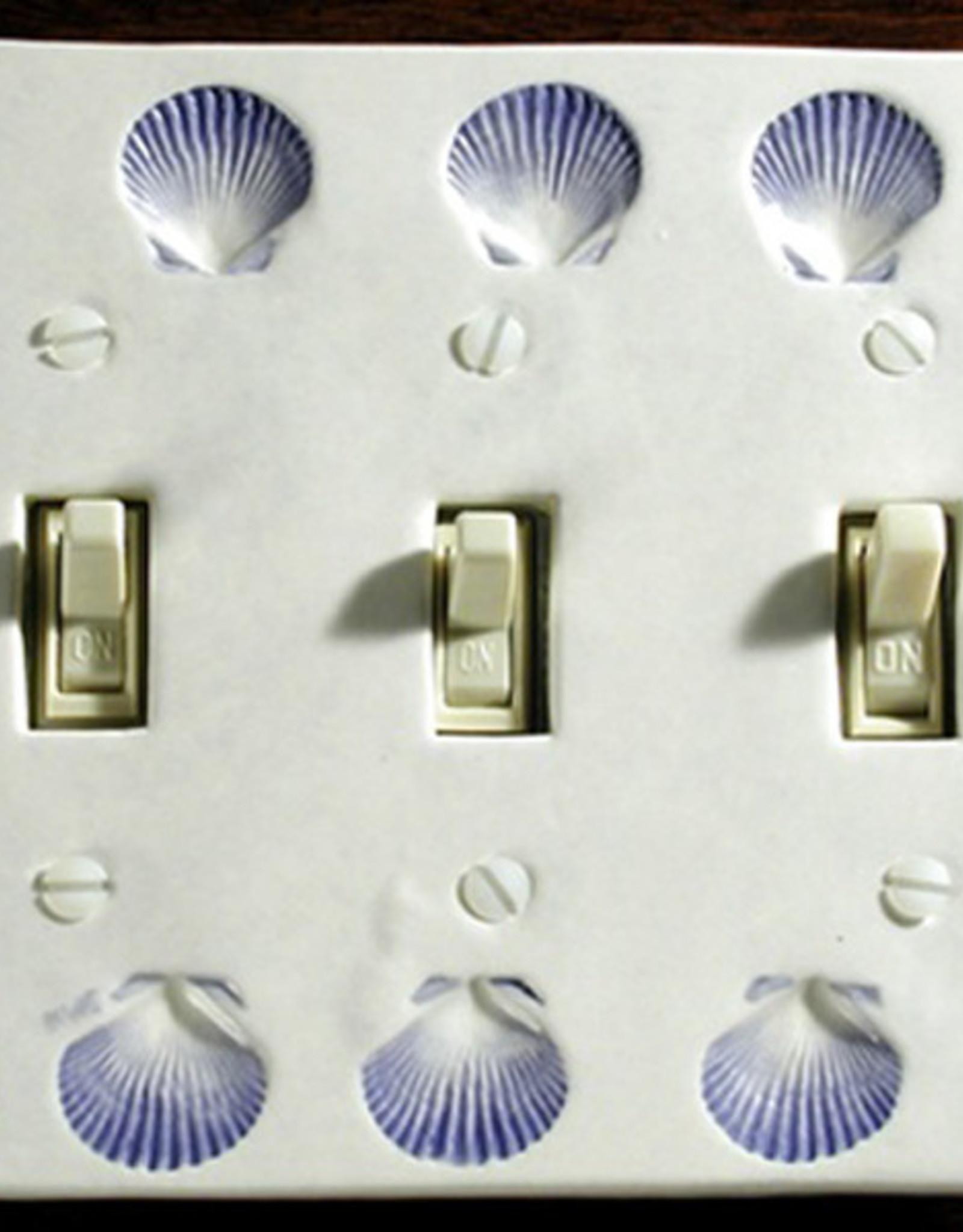 Switch Triple & 6 Screws Scallop