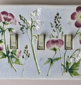 Switch Triple & 6 Screws Wild Geranium Lily of  Valley