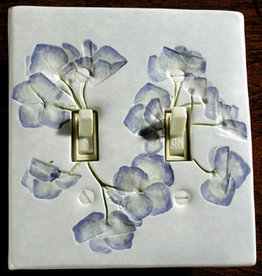 Switch Double & 4 Screws Hydrangea